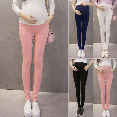 Pregnant Women Maternity Pencil Pants Casual High Waist Trousers