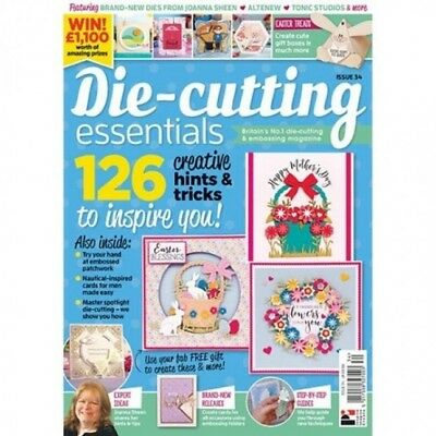 DIE CUTTING ESSENTIALS MAGAZINE ISSUE 34 + FREE BASKET OF BLOSSOMS 21 pc DIE SET
