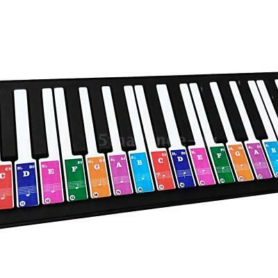 Removable Transparent Piano Keyboard Stickers for 37/ 49/ 61/ 88 Keys N7M9