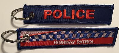 Highway Patrol Keyring, WA, SA, NT, QLD, NSW, VIC, TAS.