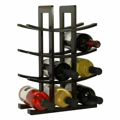 Table Top Wood Wine Rack Bottle Holder Storage Countertop Shelf