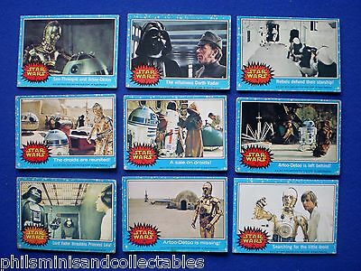 Topps 1977 Blue Set - Star Wars Bubblegum Cards  * Choose The One's You Need *