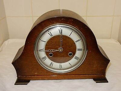 A Mid 20th Century Benting Oak Mantle Clock A/F