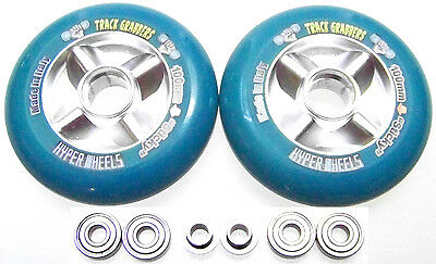 """Scooter Make It Faster Tuning 104mm Reel """" Sticky """" Abec 9 Blue Scooter Wheels"""