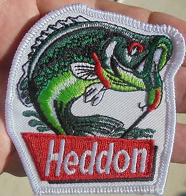 1-Heddon Fishing Lures Cloth Iron-On Patch