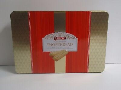 T13148 Empty Arnott's 2013 Shortbread Biscuit Tin 400G