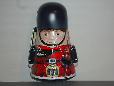T16116 Collectable Walkers Scottish Piper 225 G Empty Tin New
