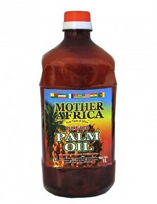 (5,89€/1l) [ 1000ml ] MOTHER AFRICA Rotes Palmöl Palm Öl / Pure Red Palm Oil