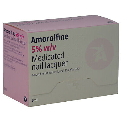Amorolfine 5% w/v Medicated Nail Fungal Treatment Lacquer 3ml (Curanail Loceryl)