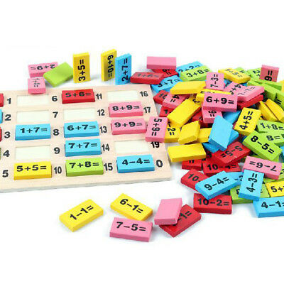 Kids Wooden Math Early Learning Educational Toy - Addition Subtraction Board