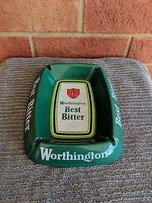 Worthington Best Bitter Melamine Ashtray, Man Cave Display Piece, A Collectable