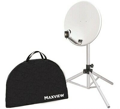 Maxview Portable-Sat-Kit 65 cm mit Receiver 12/230 V und easy find LNB