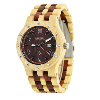 Men Women Wood Watches Analog Quartz Lightweight Handmade Wood Wrist Watch J