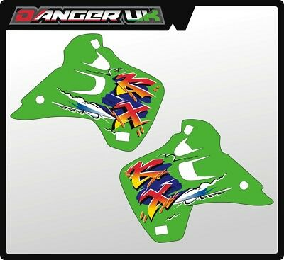 Kawasaki Kx 250 1993  Rad Scoops Radiator Shrouds Graphics Decals
