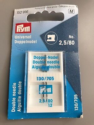 Prym Universal Sewing Machine Double Needle No. 2.5/80 130/705 (152916)