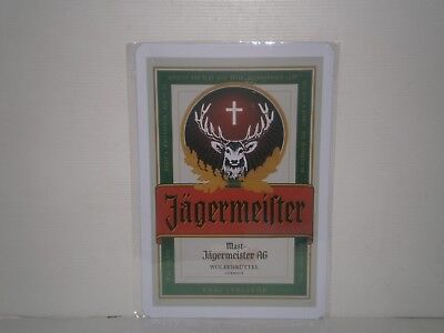 JMS1 Jagermeister Metal Sign 30 cm H X 20cm W New