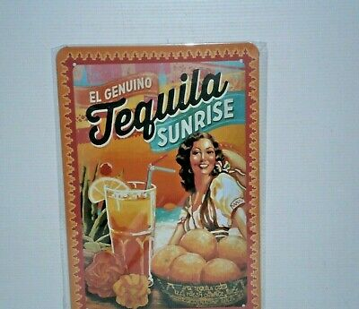 TSRS1 Tequila Sunrise Metal Sign New 30 cm H X 20 cm W