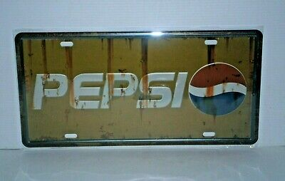PCNP1 Pepsi Metal Sign / Number Plate 15.5 cm H X 30.5 cm W New