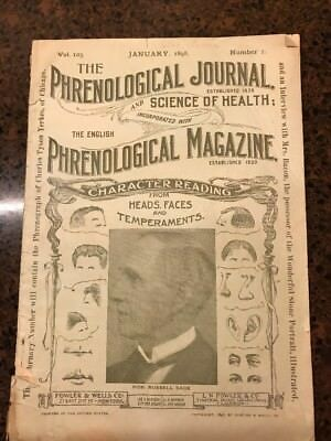 THE PHRENOLOGICAL JOURNAL October 1898 vol 105 1 Monthly Magazine Science Health