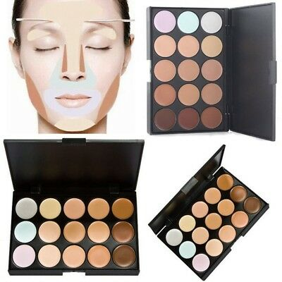 Facial Contour Tarnung 15 Farbe Concealer Palette Neutral Make-up-Creme