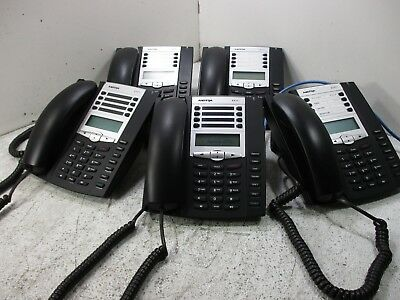 Qty-5 Aastra 6731I  Ip Phones  Voip  A6731-0131-10-01 W/ Headset & Stands  T3-C5