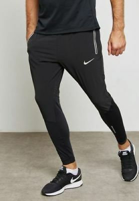 1825ec055fc0 NEW MENS L LARGE NIKE FLEX SWIFT RUNNING TRACK PANTS BLACK SILVER 857840  joggers