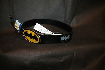 NEW BATMAN Belt and Belt Buckle KIDS BOYS DC SIZE Small / Medium