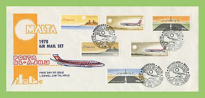 Malta 1978 Air set on First Day Cover, Birkirkara