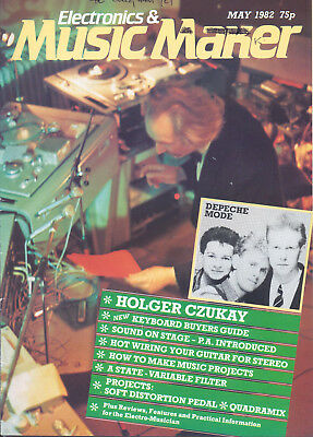 Electronics & Music Maker May 1982 Holger Czukay of Can & Depeche Mode