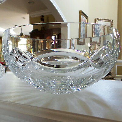 """Waterford Crystal DOLMEN Bowl 9"""" Round Celtic Knot Very Hard to Find is Great!"""