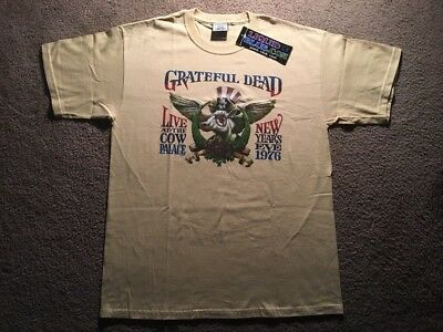 Grateful Dead VTG T-Shirt Cow Palace 1976 2008 GDM LG Super Rare Tour Shirt NWT