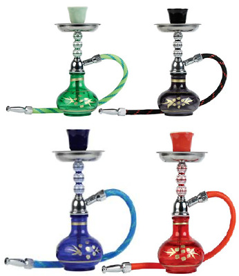 Hose Glass Water Pipe Vase Tobacco Shisha Nargile Smoking Hookah Bong