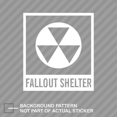 Fallout Shelter Symbol Sticker Die Cut Decal Nuclear Radiation