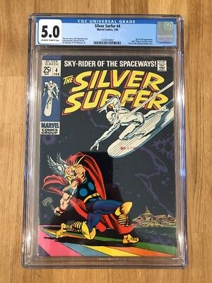 The Silver Surfer #4 - CGC 5.0 OW/W (Feb 1969, Marvel)