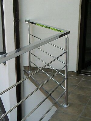 Stainless Steel Balustrade Wire Rods Banister Indoor Outdoor Handrail Stairs