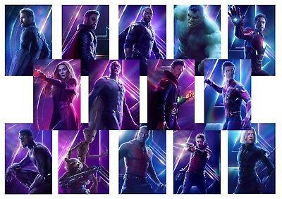 AVENGERS: INFINITY WAR Textless Character Poster Captain America etc  A5 A4 A3