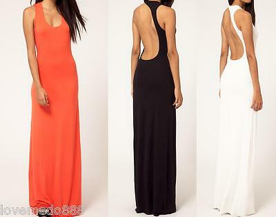 new womens sexy cocktail party evening celeb club wear open back Long MAXI Dress