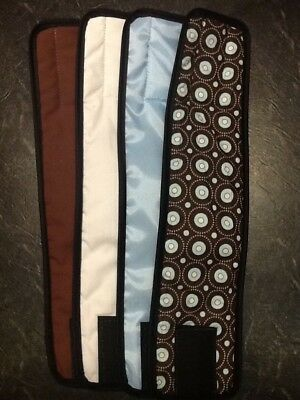 4pk Male Dog Diaper BLUE DOTS, BLUE, BROWN, WHITE Belly Band Sz XS-XL