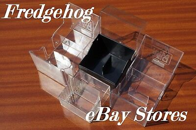 PACK OF 4 x MINIDISC STORAGE CASES / BOXES - CLEAR TOP FOR EXCELLENT VISIBILITY