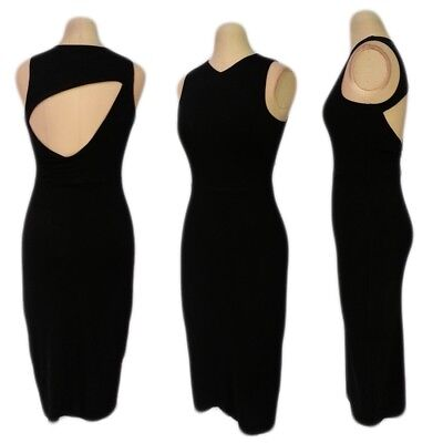 WOMENS OL Casual CLUB party Scooped cut out OPEN BACK Stretch MIDI bodycon Dress