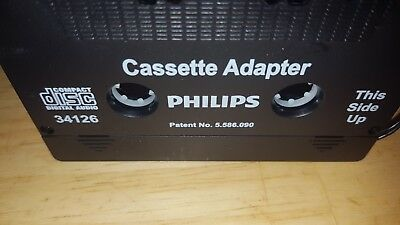 Philips Car Cassette Tape 3.5mm AUX Audio Adaptor MP3/4 CD iPod iPhone