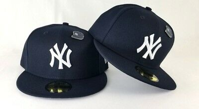 cheap for discount 52161 26155 New Era Metal Pin New York Yankee Navy 59Fifty Fitted Hat