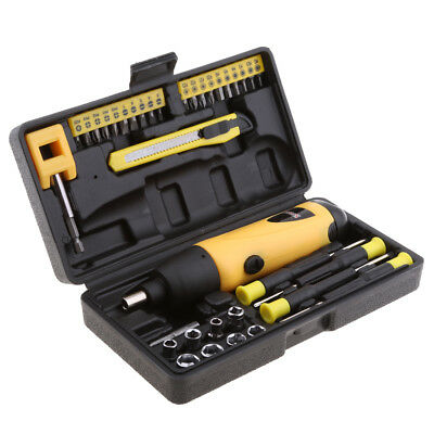 Electric Screwdriver Cordless Nut Driver Bits Drill Kit Battery Power Tools