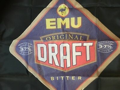 Emu draught   - Man Cave Work Shop Garage Shed Bar Poster Flag banner coaster