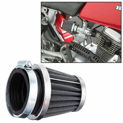 Chrome 35mm Air  Filter Silver Motorcycle Chopper Bobber Scooter ATV Universal