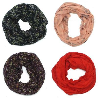 NWT A New Day Womens Lightweight Summer Infinity Scarf Red
