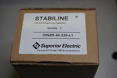 Box of 8 Superior Electric DIN2R-40-220-L1 Transient Voltage Surge Suppressor