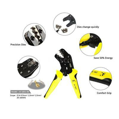 Multi-Use Wire Crimper Ratchet Terminal Crimping Plier 3.96-6.3mm Home Use A0M0