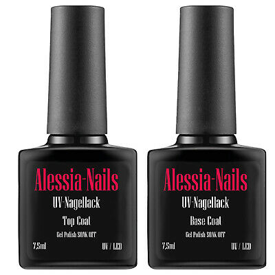 Shellac UV Base Coat und Top Coat Polish Nagellack Gel  7,5ml Shellack