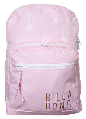 Billabong Backpack Pink S Womens Ladies Girls Kids New One Size Bags Bag 18L